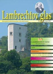 Glasilo JUNIJ 2012 - Lambrechtov dom starejših