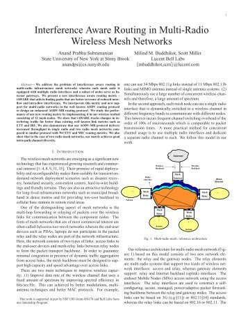 Interference Aware Routing in Multi-Radio Wireless Mesh Networks