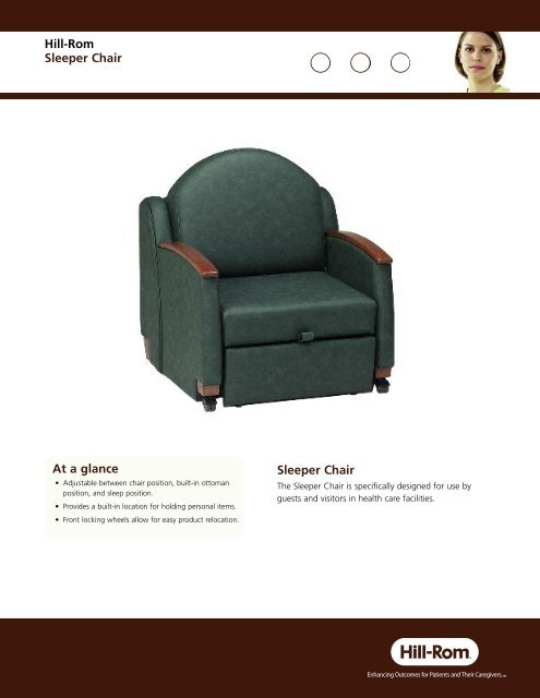 Astonishing Sleeper Chair Brochure En Hill Rom Machost Co Dining Chair Design Ideas Machostcouk