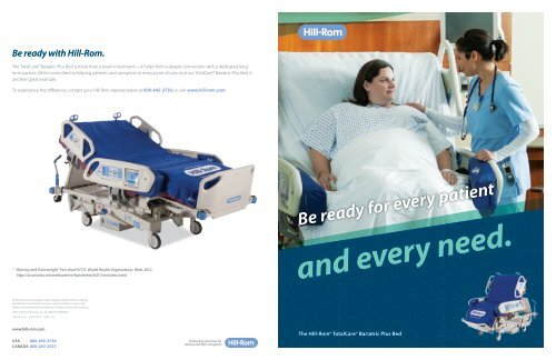 Totalcare Bariatric Plus Hospital Bed Brochure Hill Rom