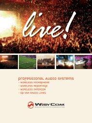 professional wireless microphone systems - Wisycom srl