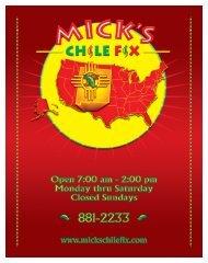 micks menu full color new logo front.FH10 - Mick's Chile Fix