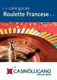 regolamento della Roulette Francese - Casinò Lugano