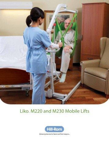 Liko M220 M230 Mobile Lifts Brochure - Hill-Rom