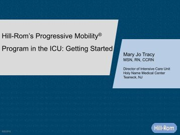 Hill-Rom's Progressive Mobility® Program in the ICU: Getting Started