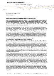 Eine kulturhistorische Reise durch ganz Europa - Bern, Historisches ...