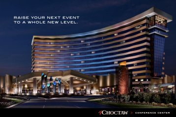 raise your next event to a whole new level. - Choctaw Casinos