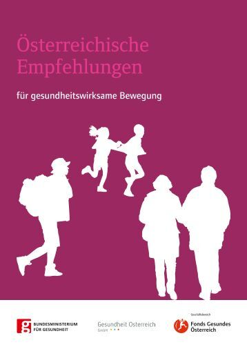 Österreichische Empfehlungen für gesundheitswirksame Bewegung