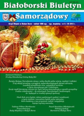 Białoborski Biuletyn Samorządowy nr 8/ XII 2012 - Biały Bór