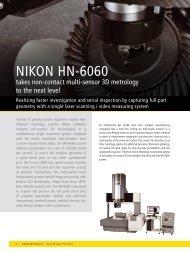 Nikon HN-6060 takes non-contact multi-sensor - Nikon Metrology