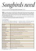 Summer 2012 Newsletter - Songbird Survival - Page 4
