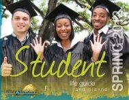 Spring 2012 Student Life Calendar - The Campus Voice
