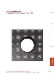 Technisches Datenblatt BAUMSCHEIBE PADOVA Q1500 ... - Hess AG