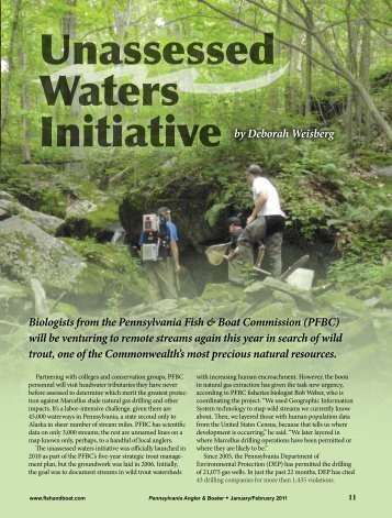 Unassessed Waters Initiative - Pennsylvania Fish and Boat ...