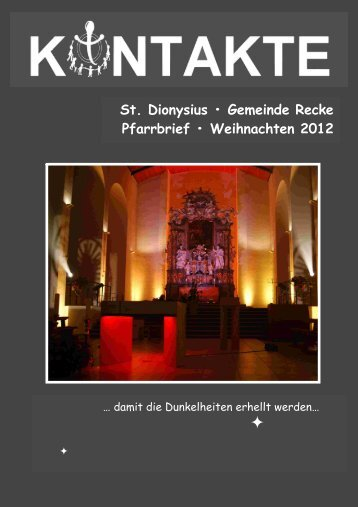 Pfarrbrief als PDF-Datei herunterladen. - St. Dionysius Recke