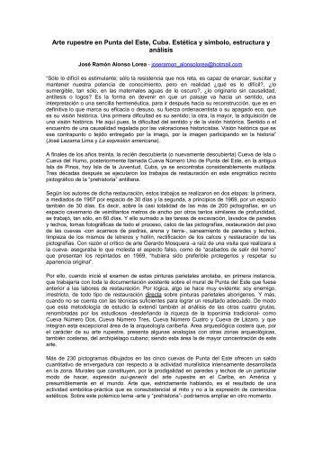 Arte rupestre en Punta del Este, Cuba - Monografias.com