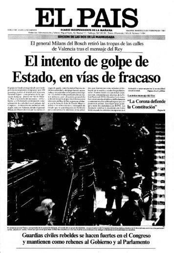 23-F: Edición Especial de las dos de la madrugada - EL PAÍS