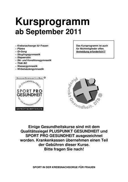 VSTV Kursprogramm ab September 2011 (pdf)