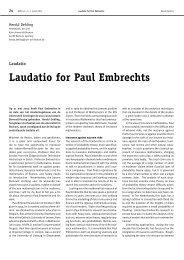 Laudatio for Paul Embrechts - Nieuw Archief voor Wiskunde