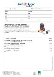 Bestellblatt Recaro 2013 - Kid(z)
