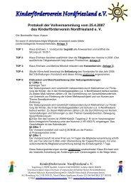 Protokoll der Vollversammlung vom 25.4.2007 des ...