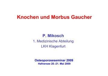 Knochen und Morbus Gaucher