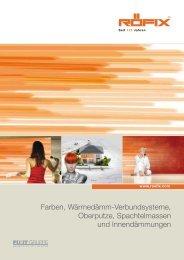 Farben, Wärmedämm-Verbundsysteme, Oberputze ... - Röfix