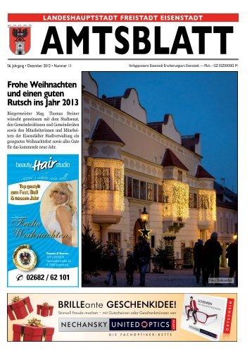 11. Ausgabe 18.12.12 - Eisenstadt