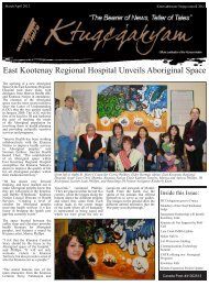 March/April 2012 Issue - Ktunaxa Nation