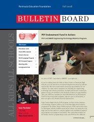 BULLETIN BOARD - Peninsula Education Foundation
