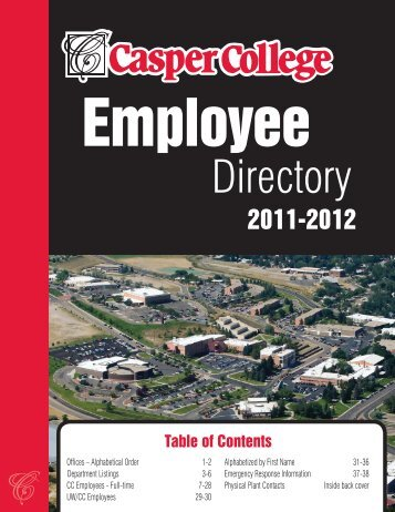 Admissions_Employee Directory 1-12.indd - Casper College