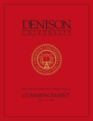 2005 Commencement Program - Denison University