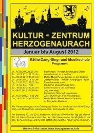Januar bis August 2012 - Stadt Herzogenaurach