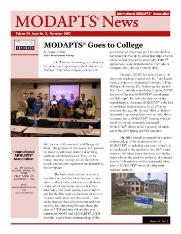 Vol 19 Issue 1 - MODAPTS.org