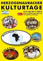 Kulturtage 2012 - Gesamtprogramm - Stadt Herzogenaurach
