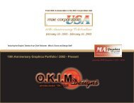 10th Anniversary Graphics Portfolio-OKIM Designs