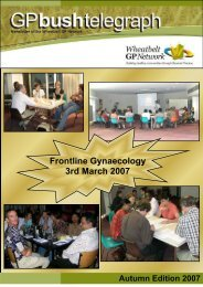 March 07 Newsletter 2 - for the web - Wheatbelt GP Network