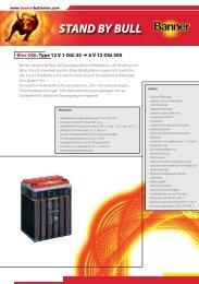 Folder Stand by Bull Ogi Bloc D (0.3 - Banner Batterien