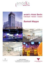 Bankett Mappe - Berlin Locations