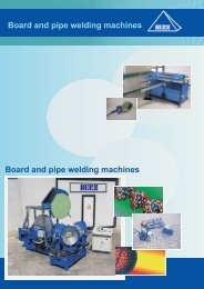 Board and pipe welding machines Board and pipe ... - Herz-GmbH