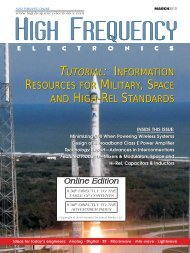 High Frequency Electronics — March 2010 Online Edition