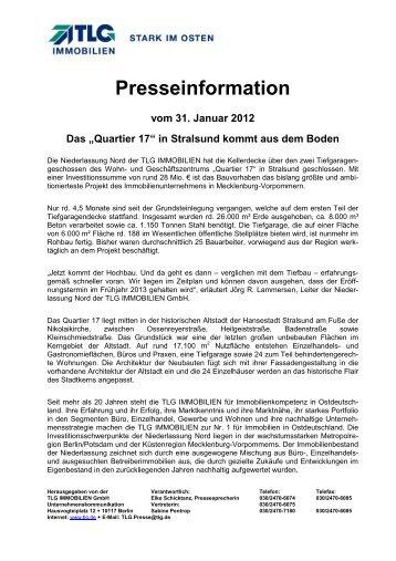 Q 17 kommt gut voran - TLG Immobilien GmbH