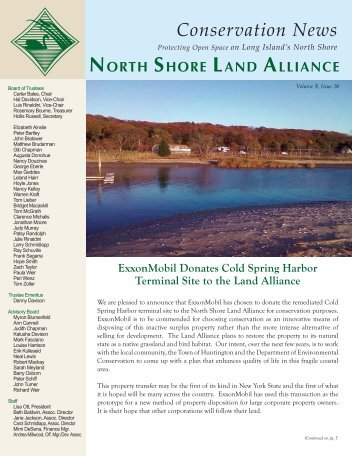 2012 Fall/Winter Newsletter - North Shore Land Alliance