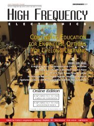 High Frequency Electronics -- December 2009 Online Edition