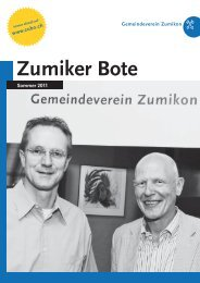 PDF – ZUBO-Broschuere – Sommer 2011 - Zumiker Bote
