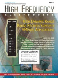 High Frequency Electronics -- May 208 Online Edition