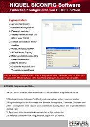 HIQUEL SICONFIG Software