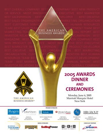 J1430-ABA05 Program - the Stevie Awards