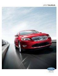 2012 Ford Taurus Brochure - Driving Force Automotive Marketing