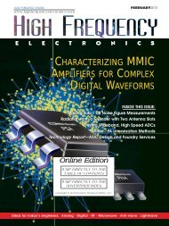 High Frequency Electronics -- February 2010 Online Edition